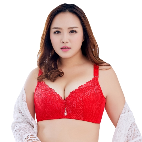 Sexy Women Plus Size 3/4 Cup Lace Push Up Bra Thin Light Padded Underwire Brassiere Underwear Large Cup