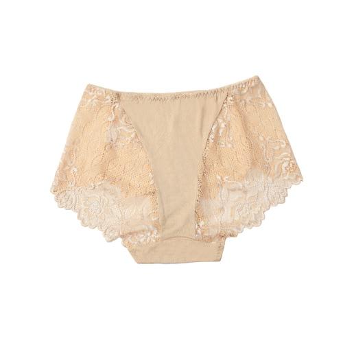 Sexy ropa interior transparente de las mujeres de las bragas de encaje suaves Calzoncillos Unerpants transpirable ultra-delgado