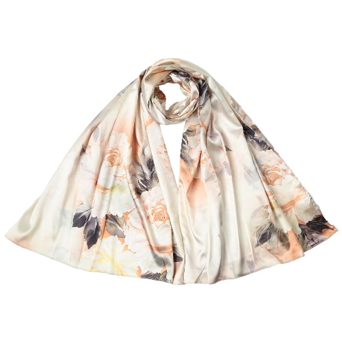 Las nuevas mujeres de la manera bufanda de seda del patrón de impresión especial larga del mantón elegante capa suave de la vendimia