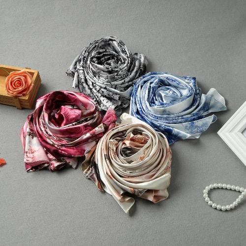 Image of Neue Art und Weise Frauen-Silk Schal Spezielle Muster-Druck-Lange-Schal Elegante Vintage weiche Cape