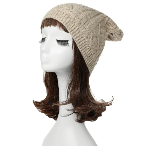 New Fashion Unisex Women Men Knitted Beanie Solid Color Ribbed Design Slouchy Hat