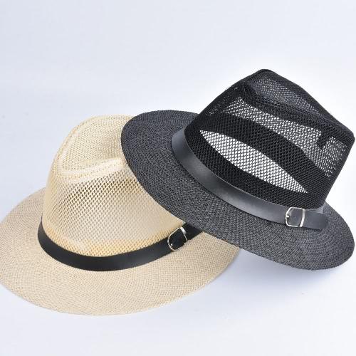 Женская весна Летняя сумка крышка выдалбливают широкими полями котелок Fedora шляпы флоппи соломы пляж шапки Панамой