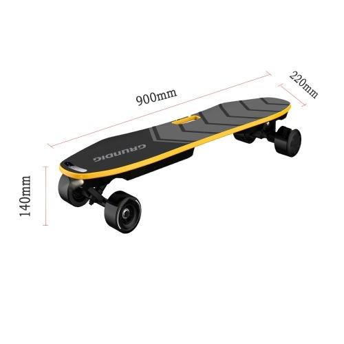 GRUNDIG 35,4-дюймовый электрический скейтборд Электрическая доска Самобалансирующийся скейтборд с двойным двигателем
