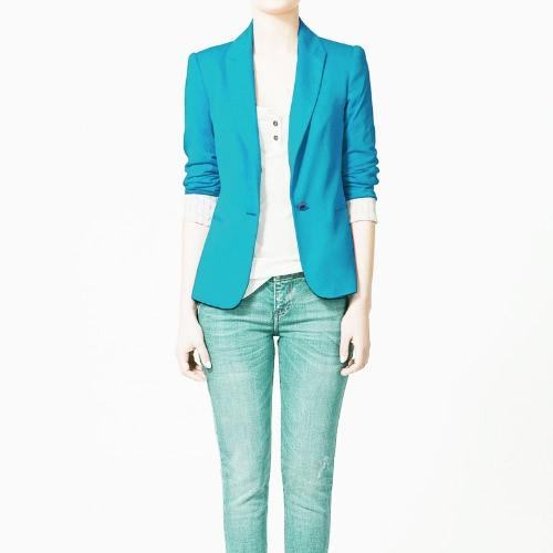 2012 mulheres elegante Blazer jaqueta casaco túnica terno Casual manga dobrável