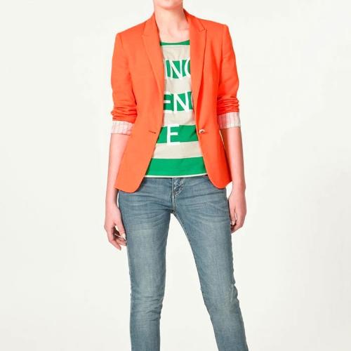 2012 Elegante Mulheres Blazer Jacket Brasão Túnica Suit Casual manga dobrável