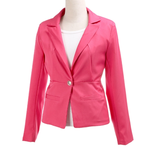 2012 Stylish Women Blazer Jacket Coat Tunic Casual Suit Foldable Sleeve
