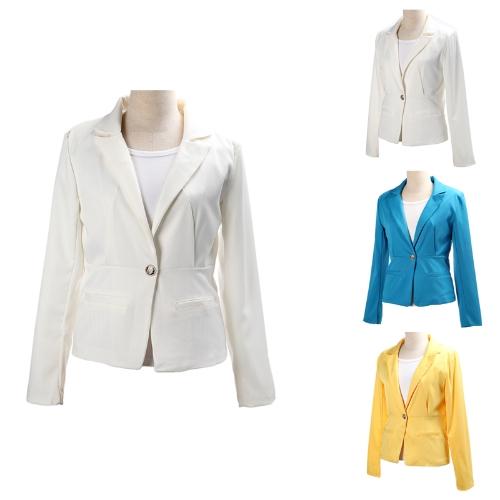 2012 femmes élégant Blazer veste tunique Casual costume pliable manche de manteau