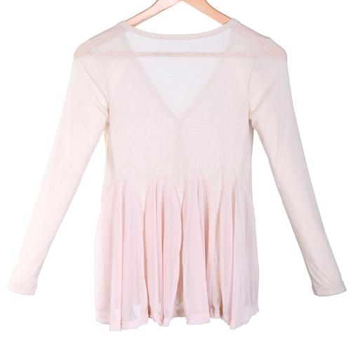 Women's Cardigan Knit Chiffon Tops  Blouse Coat