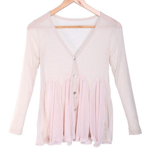 Cardigan donna Maglia top in Chiffon camicetta cappotto