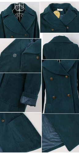 Women's Pea Coat Jacket Double Breasted