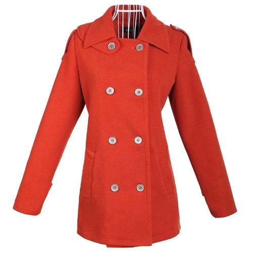 Women's Pea Coat Wool Coat Cashmere Overcoat