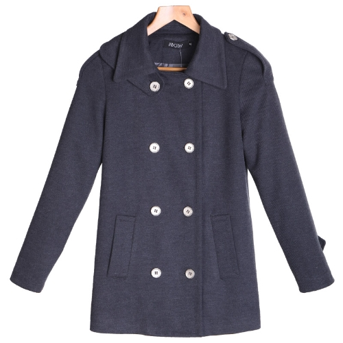 Damen Pea Coat wolle Mantel Kaschmir Mantel