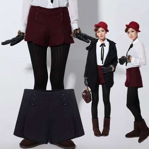 Las mujeres pantalones cortos pantalones de lana