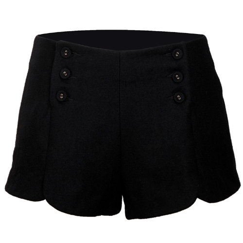 Womens Shorts Wool Pants