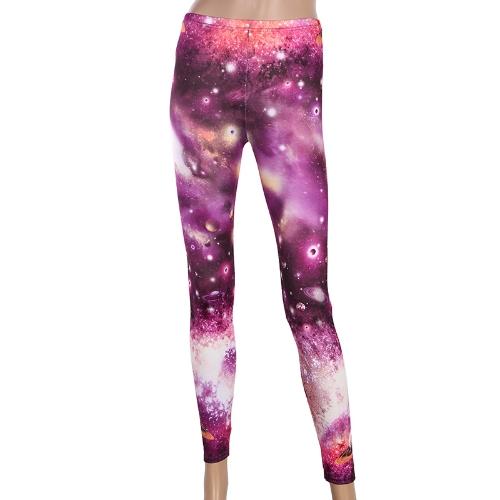 Pantalones de mujer con estampado de estrellas del cielo estrellado Galaxy Star