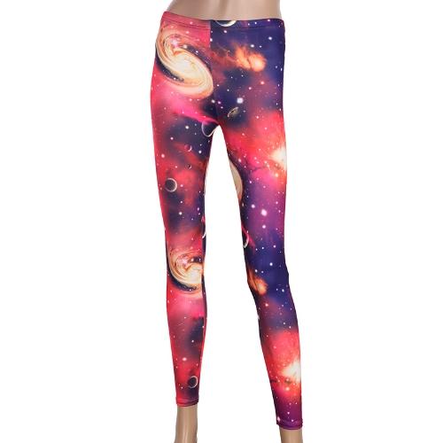 Spodnie damskie Galaxy Cosmic Starry Sky Printed Leggings