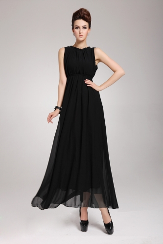 2013 New Summer Bohemian Beach Women's Dress Chiffon Split Halter Backless Long Maxi Dress Party Evening Black