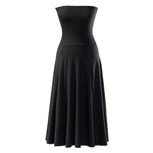 Mode sexy femmes Mesdames robe Bikini Cover Up noir jupe de plage d'été maillot de bain sans bretelles