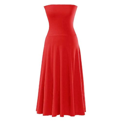 Moda sexy vestido de las mujeres Bikini tapa roja falda vestido traje de baño verano playa