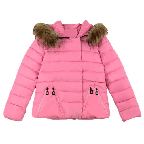 Invierno mujer Parka acolchada cierre rápido cierre con capucha caliente abrigos y chaquetas de abrigo