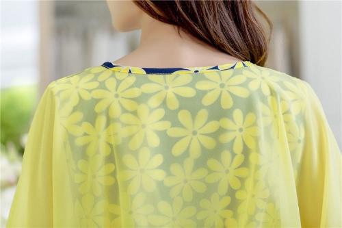 Moda mujer vestido de Gasa Floral