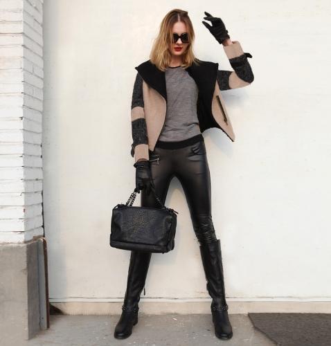 Vêtements femme manteau Turn-down collier gros revers Outerwear courte veste ceinturée épais manteau chaud noir revers