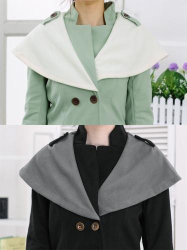 Осень зима мода женщин пальто контраст большой лацкане двубортный Эполет пуховики черный фото