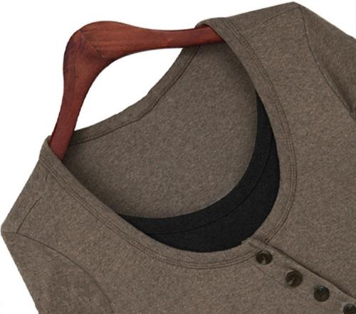 Moda donne sottile t-shirt colore blocco Patchwork finto due pezzi maniche lunghe camicetta top