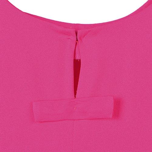 Moda donna sciolto abito rotondo collo tre quarti maniche MAIUSC Mini abito
