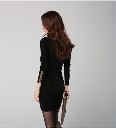 Moda coreana mujeres Mini vestido de