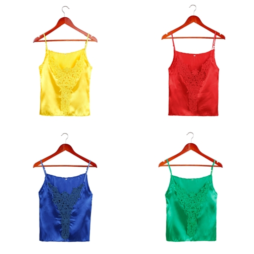 New Fashion Women Camisole Top Crochet Lace Adjustable Spagetti Strap Sexy Tank Top Blouse