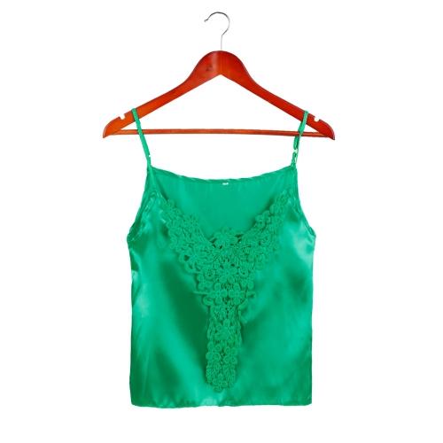 Nueva moda mujer camiseta Top blusa del ganchillo correa Spagetti ajustable encaje Sexy Tank Top
