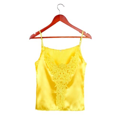 Nueva moda mujer camiseta Top blusa del ganchillo correa de espagueti ajustable encaje Sexy Tank Top