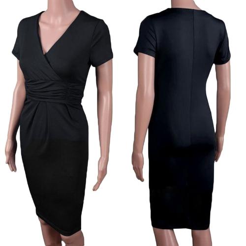 Moda mujeres oficina elegante vestido elástico