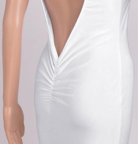 Сексуальные женщины платье макси голые обратно асимметричным подолом O шеи без рукавов выпускной вечер платье черный/белый/красный фото