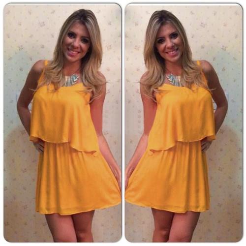 Sexy Sommer Frauen zwei Stücke Chiffon Kleid Spaghetti Riemen Tanktop Plissee Minirock gelb