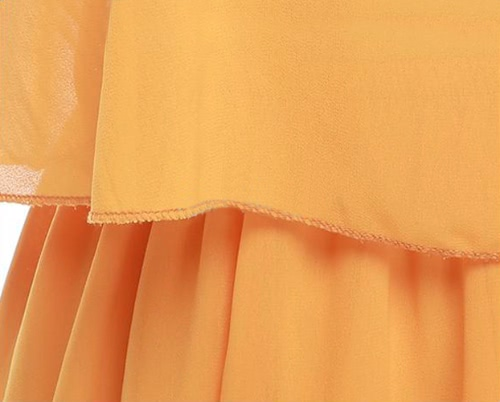 TOMTOP / Verão sensual mulheres duas peças vestido de Chiffon espaguete correias Tank Top plissado Mini saia amarela