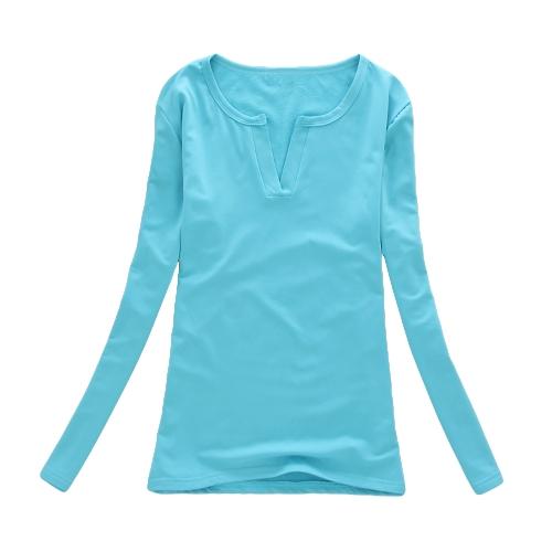 Nueva moda mujer camiseta Stretch con