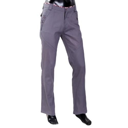 Men's Stylish Pants Slim Fit Casual Trousers Long Straight Leg