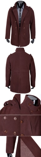 Men's Stylish Double Breasted Trench Coat Jacket Outwear