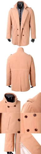 Abody Men's Stylish Double Breasted Trench Coat Jacket Outwear G4005CA-XL