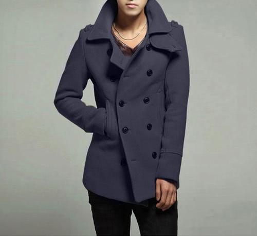 Abody elegante doble botonadura abrigo chaqueta de los hombres Outwear