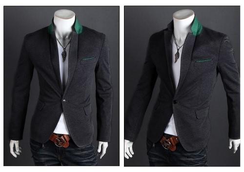 Stiilne meeste ülikond seksikas Slim Fit üks nupp Casual äri Blazer mantel jope Hall