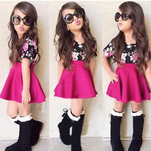Nueva moda de las niñas vestido