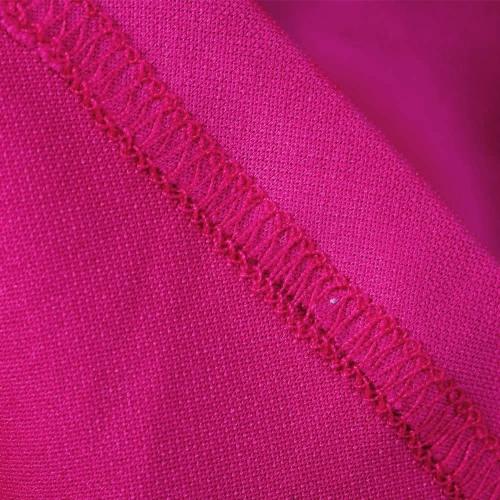 TOMTOP / Nova moda meninas vestem Floral gola redonda impresso mangas curtas babado Hem Zipper traseiro vestido rosa