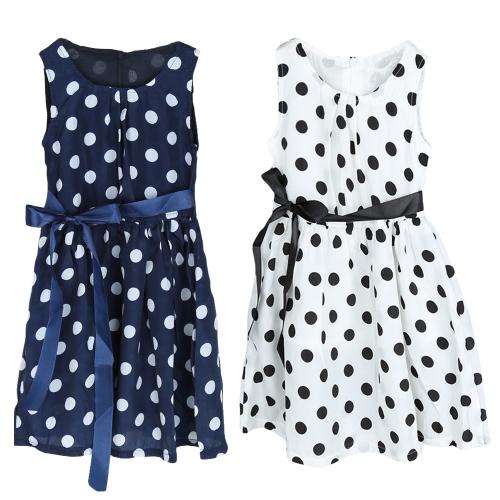 Nueva moda niños niñas vestido Polka