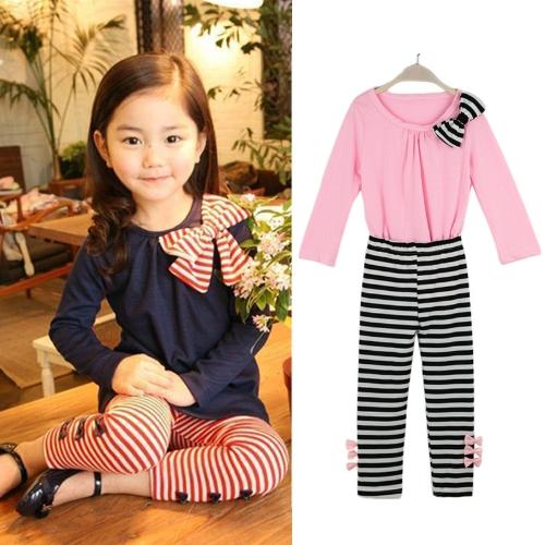 Nueva moda niños niñas ropa Set