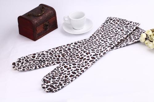 Moda las mujeres elegantes guantes PU suave brazo largo guantes de cuero de noche de fiesta guantes leopardo