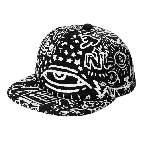 Hip Hop Glow Graffiti Eyes Snap Back Flat Baseball Hip-Pop Cap
