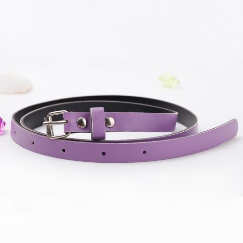 Cinturón mujer señora cintura correa PU imitación cuero caramelo Color Skinny moda